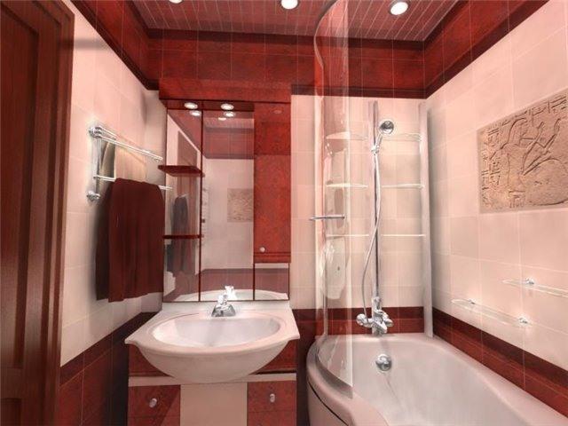 Дизайн интерьера маленькой ванной комнаты - рекомендации.