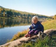 Сибирским августом мы с Муркой у реки припоминали летние деньки...