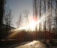 Закат в зимнем городе!