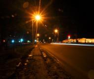 ТЦ Европа ночью