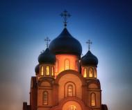 Храм Сергия Радонежского. Ночь