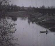 Городской деревянный мост 1970х годов
