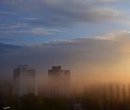 Майский туман в городе!