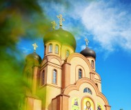 Прогулка возле храма преподобного Сергия Радонежского