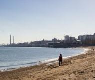 Городской пляж зимой