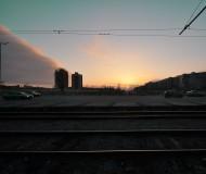 Закат в городе