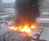 Пожар на минирынке Солнечный