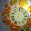 Часы настенные ручной работы, стекло.