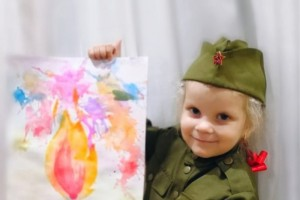 Трёхлетняя девочка из Старого Оскола победила в международном конкурсе «Рисуем с детьми Вечный огонь