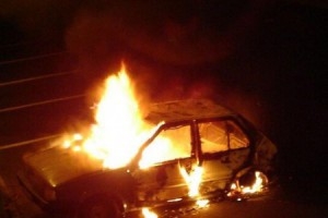В Старооскольском округе сгорели два авто