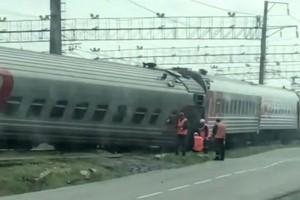 На вокзале сошел с рельс поезд Старый Оскол - Москва