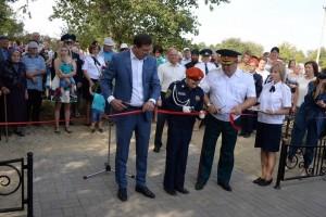 В старооскольском селе Дмитриевка открыли памятник погибшим советским воинам