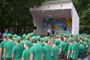 Александр Гнедых побывал на закрытии смены в лагере «Радуга»