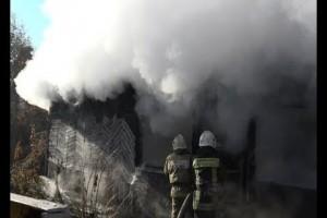 Очередной заброшенный дом сгорел в Старом Осколе