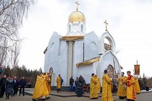 На ОЭМК освятили храм-часовню