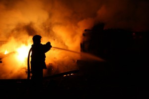 В центре Белгорода сгорел один из супермаркетов