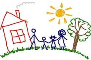 Рисунки мелом - рисуй семью смело