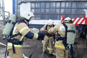 В Старом Осколе на комбинате хлебопродуктов потушили условный пожар