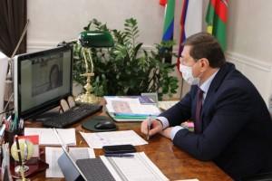 Александр Сергиенко провел еженедельное оперативное совещание в режиме видеосвязи