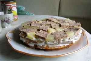 """Торт """"Ананасовая нежность"""""""