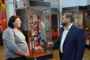 Съемочная группа первого канала посетила Старооскольский краеведческий музей