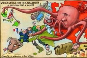 Выборы в России в западной карикатуре
