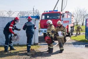 Энергетики и пожарные отработали взаимодействие по ликвидации условного возгорания на подстанции