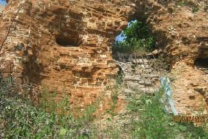 Крепость Оскол. Остатки стены