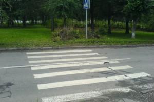 Авария на пешеходном переходе