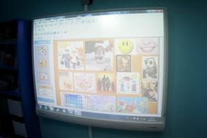 В школе №19 первоклашек будут учить с помощью новых мультимедийных проекторов