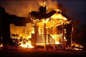 В Сосновом бору из горящего дачного дома спасли двоих детей