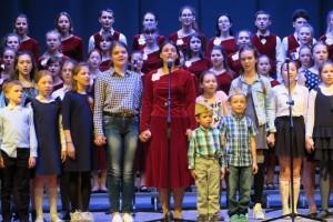 Юные старооскольцы спели вместе с московским хором