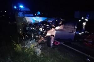 19-летний водитель совершил наезд на опору уличного освещения