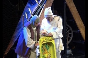 Сказка Пушкина о рыбаке и рыбке на сцене старооскольского театра