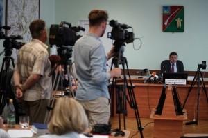 Состоялась пресс-конференция главы администрации СГО Александра Сергиенко