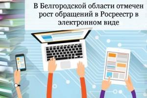 В Белгородской области отмечен рост обращений в Росреестр в электронном виде