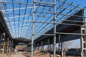 На Оскольском электрометаллургическом комбинате продолжается строительство шаропрокатного стана