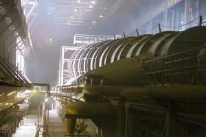 На ОЭМК им. А.А. Угарова завершился капитальный ремонт обжиговой машины