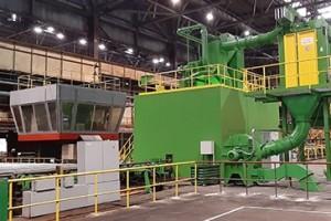 На ОЭМК продолжается опытно-промышленная эксплуатация дробемётной установки
