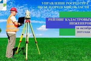 Рейтинг кадастровых инженеров на территории Белгородской области за октябрь 2019 года