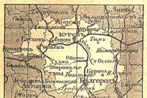 Поселения и храмы Староосколья XIX века (из книги А. П. Никулова) (В-Г)