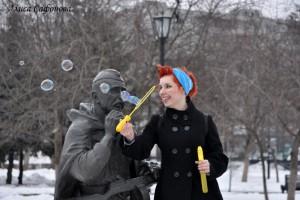 """Флешмоб """"Мыльные пузыри"""" или растопим снег!"""
