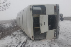 Вчера в округе произошло опрокидывание автобуса, куда обращаться пострадавшим