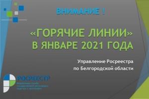 Управление Росреестра по Белгородской области проводит цикл «горячих линий» в январе 2021