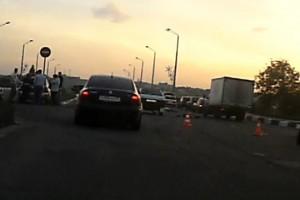 Страшная авария на железнодорожном мосту